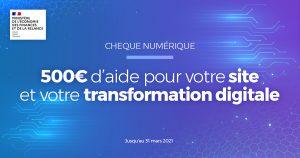 Chèque numérique : Une aide de 500€ pour créer votre site web